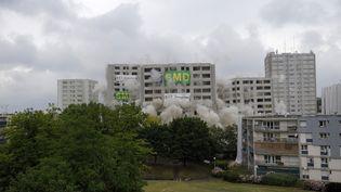 Lors de la démolition d'un immeuble vétuste, à Sartrouville (Yvelines), en 2010. (FRÉDÉRIC SOREAU / PHOTONONSTOP)
