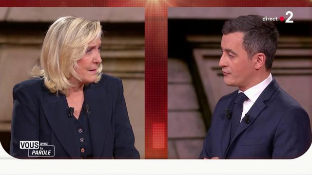 """You have the floor: Gérald Darmanin and Marine Le Pen oppose the bill """"reinforcing respect for the principles of the Republic"""""""