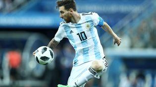 L'attaquant de l'équipe d'Argentine Lionel Messi lors de la déroute de son équipe face à la Croatie (0-3), le 21 juin 2018 à Nijni-Novgorod (Russie). (MATTEO CIAMBELLI / NURPHOTO)
