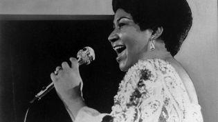 Aretha Franklin, le 28 janvier 1972 aux Etats-Unis. (AP/SIPA / AP)