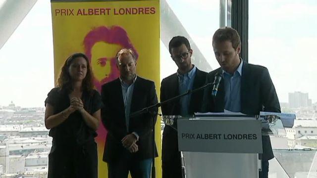 Tristan Waleckx et Matthieu Rénier, prix Albert Londres de l'audiovisuel