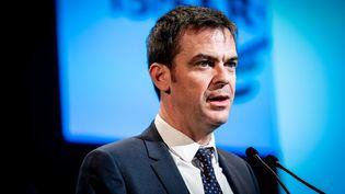 Le ministre de la Santé, Olivier Véran, le 21 février 2020 à Saint-Etienne. (GARO / PHANIE / AFP)