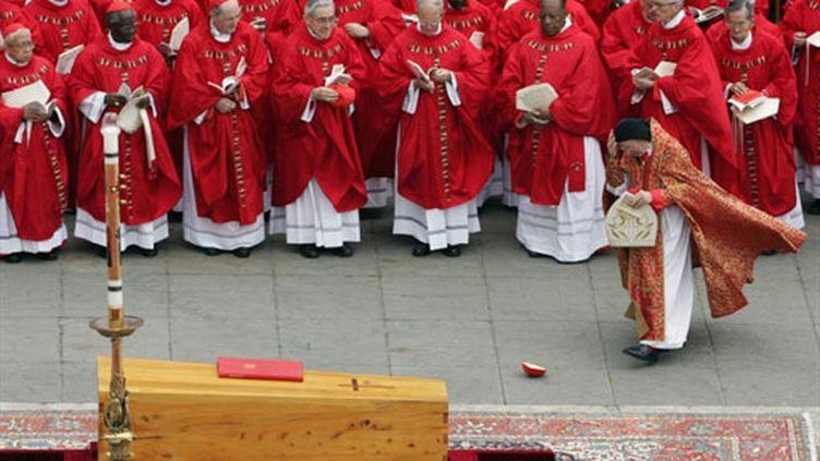 Les obsèques de Jean Paul II (8 avril 2005) (AFP / Patrick Hertzog)