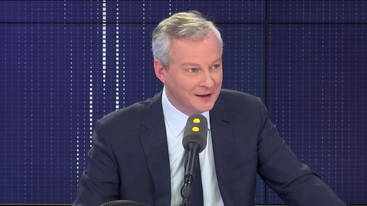 Bruno Le Maire, ministre de l'Économie et des Finances, dans les studios de franceinfo, le 27 janvier 2020. (FRANCEINFO / RADIO FRANCE)