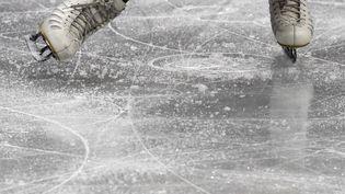 Les patins de la SuisseAlexia Paganini, lors des Jeux olympiques de Pyeongchang (Corée du Sud), le 21 février 2018. (photo d'illustration) (KIRILL KUDRYAVTSEV / AFP)