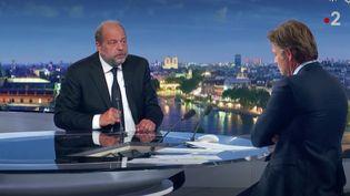 """Le garde des Sceaux, Eric Dupond-Moretti,est l'invité du """"20 heures"""" de France 2, dimanche 19 juillet 2020. (FRANCE 2)"""