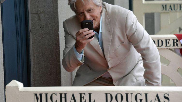 Michael Douglas sur les planches de Deauville  (PHOTOPQR/OUEST FRANCE/D FOURAY )