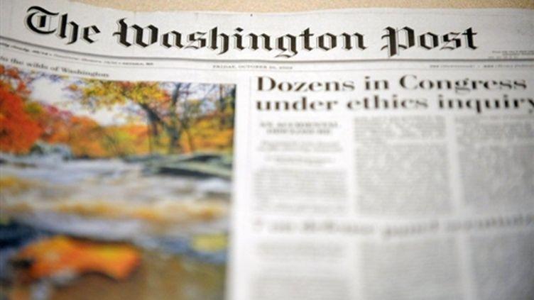 """La Une du """"Washington Post"""", le 30 octobre 2009. (AFP/Nicholas KAMM)"""