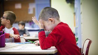 Les élèves français sont plus anxieux et doutent plus de leurs compétences en maths que la moyenne de l'OCDE, selon le classement Pisa publié le 3 décembre 2013. (AMELIE BENOIST / BSIP / AFP)