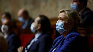 Marine Le Pen à l'Assemblée nationale à Paris, le 10 novembre 2020. (THOMAS COEX / AFP)