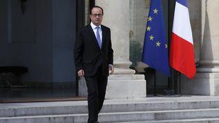 François Hollande au palais de l'Elysée, à Paris, le 15 juillet 2016. (THOMAS SAMSON / AFP)
