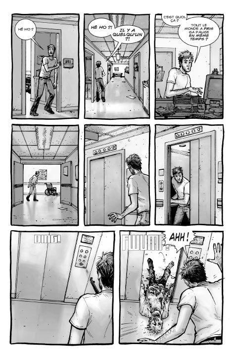 """Une des premières pages du tome 1 de """"The Walking Dead"""" publié aux éditions Delcourt en 2007. (DELCOURT)"""
