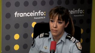 La colonel Karine Lejeune, porte-parole de la gendarmerie, mercredi sur franceinfo. (RADIO FRANCE)