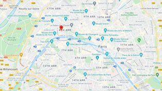 Rue François Ier, Paris (Île-de-France). (CAPTURE D'ECRAN GOOGLE MAPS)