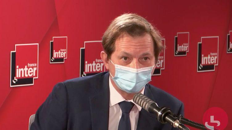 Bertrand Camus, directeur général de Suez sur France Inter le mardi 13 avril (CAPTURE D'ECRAN/FRANCE INTER)
