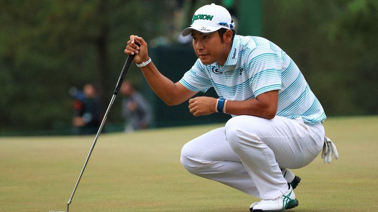 Hideki Matsuyama pourrait devenir le premier Japonais de l'histoire à remporter un tournoi du Grand Chelem de golf. (MIKE EHRMANN / GETTY IMAGES NORTH AMERICA)