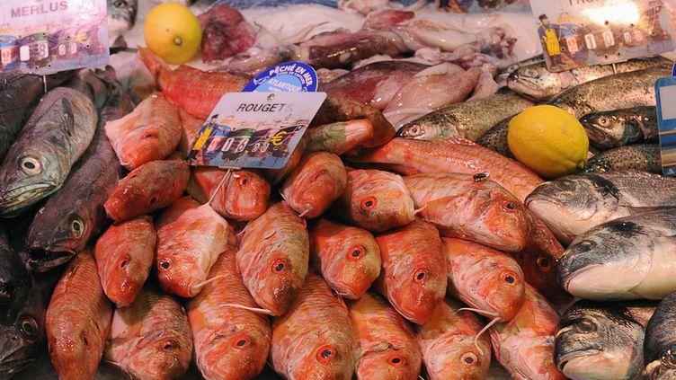 Le marché couvert de Soulac-sur-mer en Gironde, France. mai 2010 (MAXPPP)