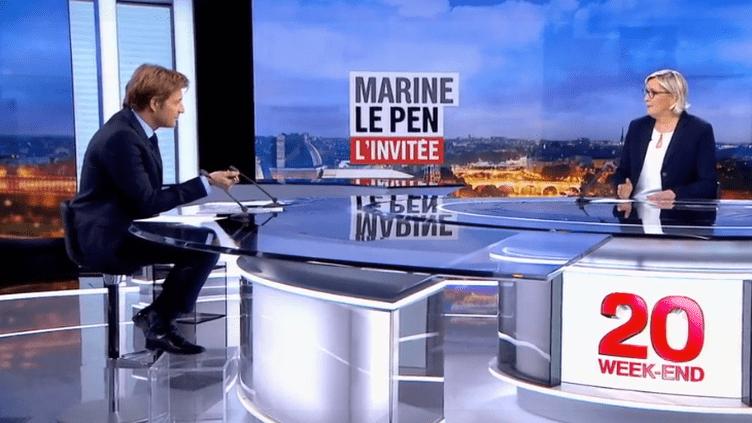 Marine Le Pen, invitée du 20 Heures vendredi 9 mars, sur France 2. (FRANCE 2)