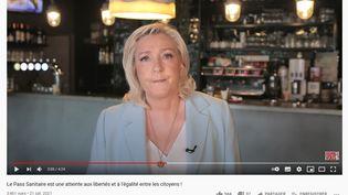 Capture écran chaîne Youtube de Marine Le Pen (Capture écran)