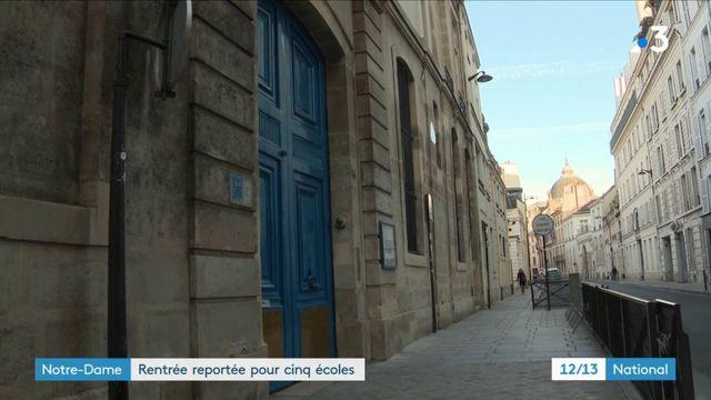 Pollution au plomb : rentrée reportée pour cinq écoles situées à proximité de Notre-Dame