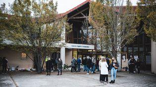 Le collège duBois d'Aulne, le 17 octobre 2020, àConflans-Sainte-Honorine (Yvelines). (SAMUEL BOIVIN / NURPHOTO / AFP)
