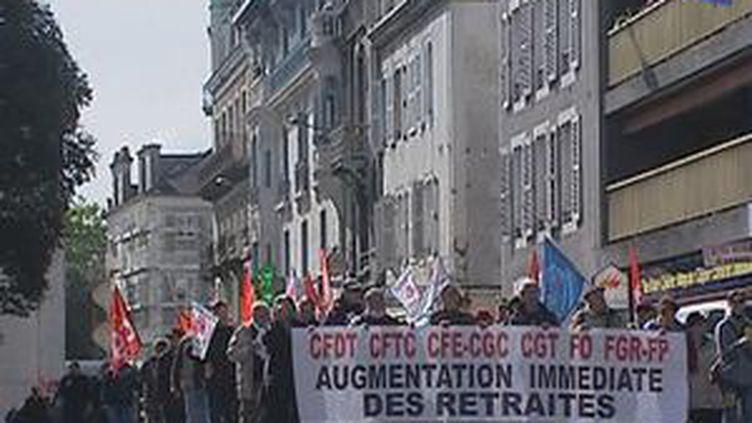 Les retraités dans les rues de Pau (archives) (France 3 Aquitaine)