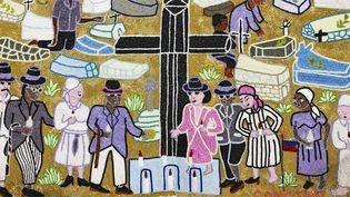 Myrlande Constant, Bannière Bawon (détail), 2005, Haïti  (musée du Quai Branly -Jacques Chirac, photo Claude Germain)