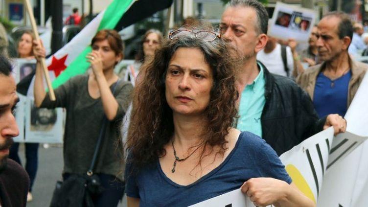 L'actrice syrienne anti-Assad May Skaf (2018)  (Zakaria ABDELKAFI / AFP)