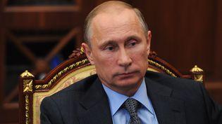 Le président russe Vladimir Poutine, au Kremlin, le 25 juillet 2014. (MICHAEL KLIMENTYEV / RIA NOVOSTI / AFP)