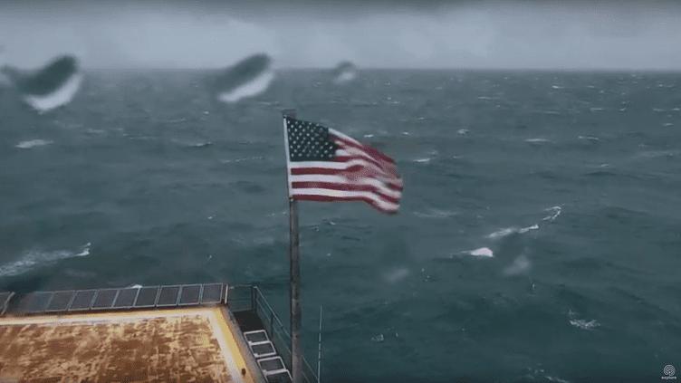 Le flux de la webcam de la Frying Pan Tower, à l'arrivée de l'ouragan Florence, le jeudi 13 septembre. (EXPLORE / YOUTUBE)