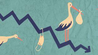La crise du Covid-19 fait redouter une baisse de la natalité en France et dans le monde dans les prochains mois. (ELLEN LOZON / FRANCEINFO)