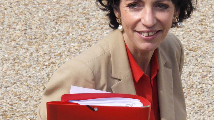 La ministre des Affaires sociales, Marisol Touraine, quitte l'Elysée (Paris) le 23 mai 2012. (PIERRE VERDY / AFP)