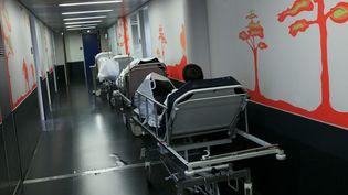 Le service des urgences de l'hôpital de Douai (Nord), le 16 janvier 2014. (CITIZENSIDE / THIERRY THOREL / AFP)
