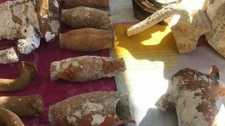 Des objets archéologiques saisis par la brigade dePetreto-Bicchisano, en Corse en novembre 2020. (Gendarmerie de Corse)