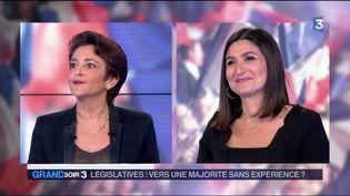 Judith Waintraub du Figaro et Anne Rosencher de L'Express. (FRANCE 3)