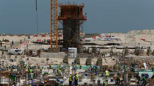 Le chantier du Louvre Abu Dhabi en mai 2013  (Marwan Naamani)