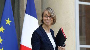 La ministre de la Culture Françoise Nyssen quitte l'Elysée, le 11 avril 2018. (LUDOVIC MARIN / AFP)