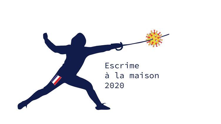 Escrime à la maison, une initiative créée par le maître d'armes Philémon Barruyer. (CECILIA BERDER / FRANCEINFO / RADIO FRANCE)