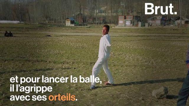 À 8 ans, il a perdu ses deux bras dans un accident. Cela ne l'a pas empêché de réaliser son rêve : devenir joueur de cricket professionnel.