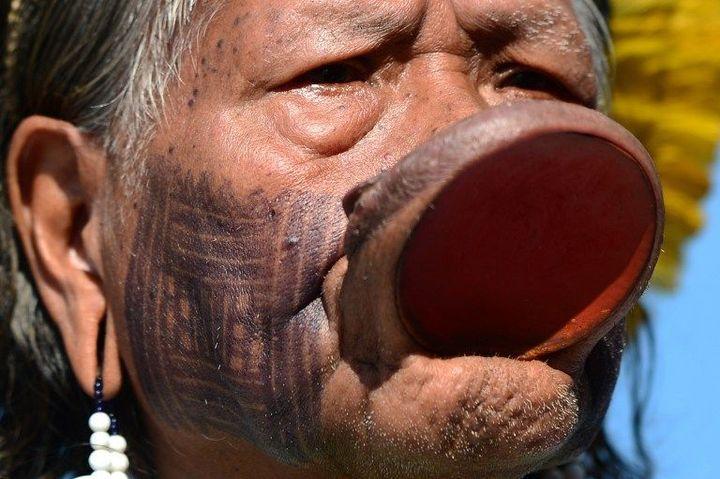 Le chef indien Raoni se bat depuis des années contre le barrage de Belo Monte  (CHRISTOPHE SIMON / AFP)