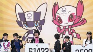 Les écoliers japonais ont, in fine, choisi les mascottes des JO de Tokyo 2020.  (Alessandro Di Ciommo / NurPhoto)