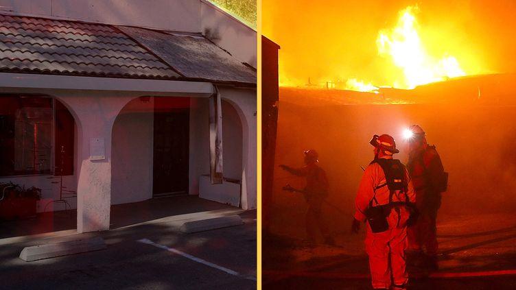 Un bâtiment de Paradise (Californie), en 2018 et 2019. (JUSTIN SULLIVAN / GETTY IMAGES NORTH AMERICA / AFP)
