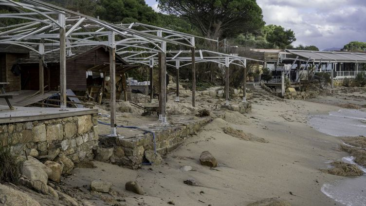 A Ajaccio (Corse du Sud) au lendemain de la tempête Adrian. (Fanny Ottavy / FTVIASTELLA)