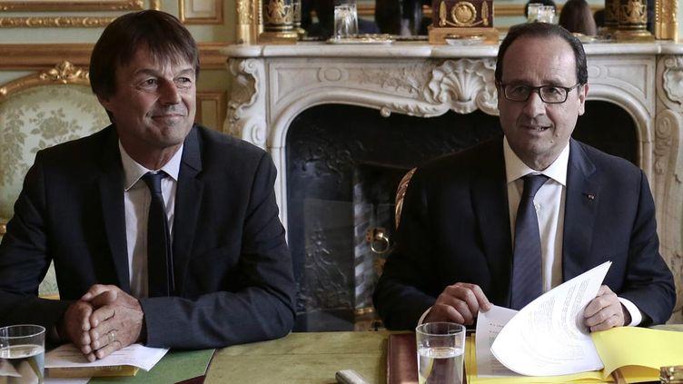 (Nicolas Hulot bientôt aux côtés de François Hollande en Conseil des ministres ? Un poste lui a été proposé  © MaxPPP)