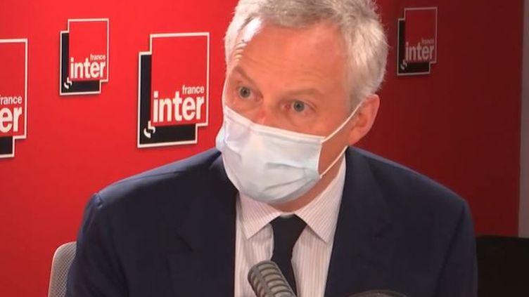 Bruno Le Maire était l'invité de France Inter vendredi 30 juillet. (FRANCE INTER)