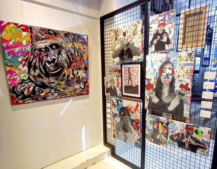 """L'actuelle expositionà la galerie :""""The Streets of Lockdown"""", """"les rues du confinement"""" (Epicerie Fine Art)"""