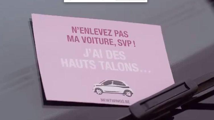 Capture d'écran de la publicité Renault Belgique retirée du compte YouTube du constructeur le 29 juillet 2014. (RENAULT / YOUTUBE / FRANCETV INFO)