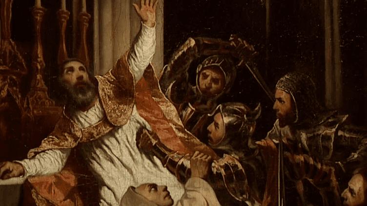 """""""La mort de Thomas Becket"""", Emile-Edouard Mouchy, 1934.  (Capture d'image France3/Culturebox)"""