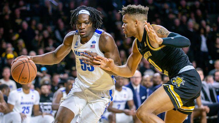 Le basketteur Precious Achiuwa originaire du Nigeria (n°55) lors d'un match à Memphis dans l'État de Wichita. Le 9 janvier 2020. (USA TODAY SPORTS / X02835)