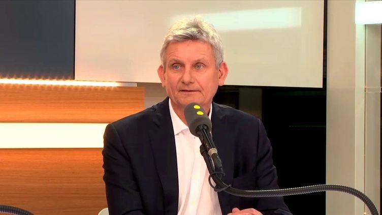 Franck Garnier, président de Bayer France et invité de franceinfo jeudi 23 novembre. (FRANCEINFO/ RADIO FRANCE)